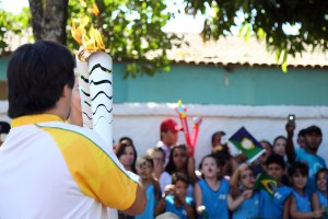 05 de maio - Passagem da Tocha Olímpica - Goias Velho - GO. Foto: Ivo Lima/ME