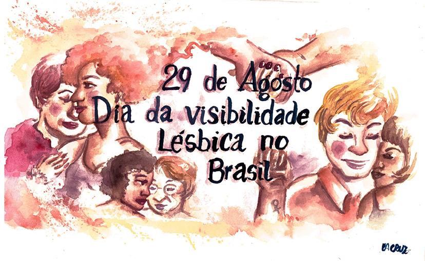 Ilustração do Dia da Visibilidade Lésbica no Brasil