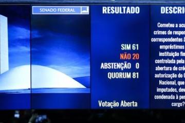 Senado aprova o impeachment de Dilma Rousseff