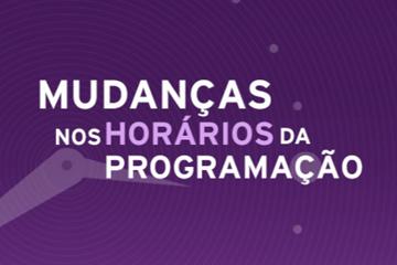 Novos horários na Rede Minas