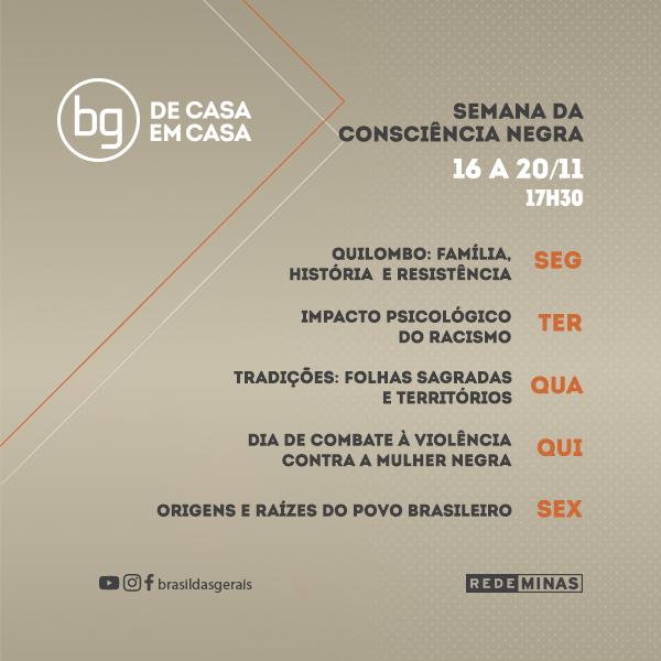 Semana da Consciência Negra no Brasil das Gerais